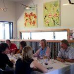 Dining at the Mountain Ridge Wines restaurant, serving modern Australian